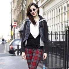 Love the tartan trousers
