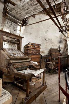 Antiche macchine da stampa
