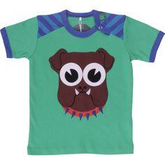 Green Cotton: Organic kids t-shirt with dog print - Tinderbox | CozyKidz