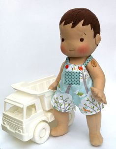 """Custom Made to Order: All Natural Materials 18"""" Vintage Inspired Cloth Baby Doll. $135,00, via Etsy."""