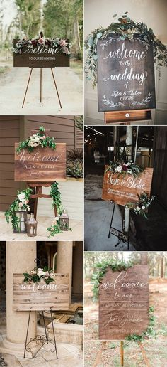 outdoor chic wooden wedding welcome signs wedding signage 30 Stunning Wedding Welcome Sign Ideas to Steal - Oh Best Day Ever Diy Wedding Bouquet, Tent Wedding, Wedding Tips, Wedding Events, Our Wedding, Wedding Planning, Space Wedding, Wedding Wishes, Budget Wedding