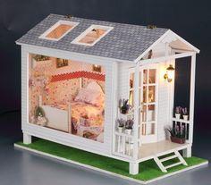 New Dollhouse Miniature DIY Kit 13817 Crystal Bay Chalet with Flower Pot   eBay