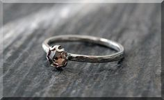 Topaz Ring November Birthstone Ring Ready to by thewrappedpixie