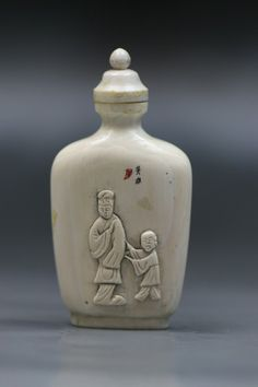 Fine Chinese Antique Ivory Snuff Bottle