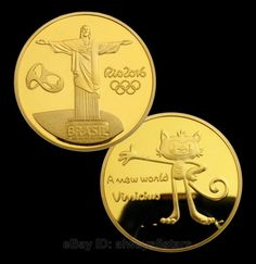 Rio 2016 Olympic Mascot Vinicius Christ Redeemer Statue 24K Gold Plated Coin | eBay