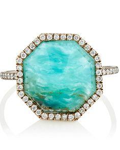 Opal Engagement Rings That Are Oh-So Dreamy   Martha Stewart Weddings - Monique Pean white diamond and opal ring, $8,260, barneys.com.