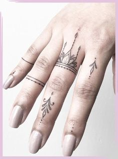 Tiny finger tattoos for girls; small tattoos for women; rin… Tiny finger tattoos for girls; small tattoos for women; finger tattoos with meaning; Tattoo Girls, Girl Finger Tattoos, Finger Tattoo Designs, Tattoo Women, Tattoo Finger, Finger Tattoo For Women, Hand And Finger Tattoos, Womens Finger Tattoos, Cross Finger Tattoos