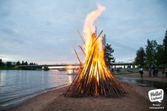 Midsummer Day Celebration in Rovaniemi. Lapland Finland, And July, Midnight Sun, I Want To Travel, My Heritage, Travel Around, Wonderful Places, Wind Turbine, New Experience