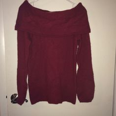 White House Black Market Sweater Wool cashmere blend sweater from White House Black Market. Size XS but I'm a 4 and it still fits me. Beautiful burgundy color and flawless material. NWT. White House Black Market Sweaters Cowl & Turtlenecks