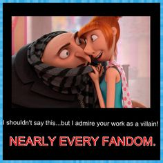 Nearly every fandom can relate to this...Avengers, Sherlock... ;) We love our good old fashioned villians