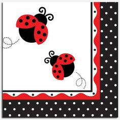 Ladybug Fancy Luncheon Napkins by Beau-coup