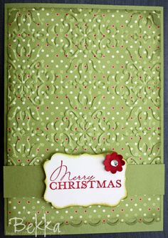 This could be a cute multi card project with the right paper. There are several embossing folders that would look good.