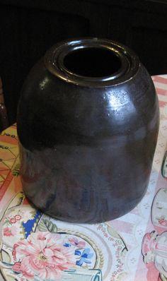 Antique 1800s Stoneware Preserve Fruit Canning Crock - Jar