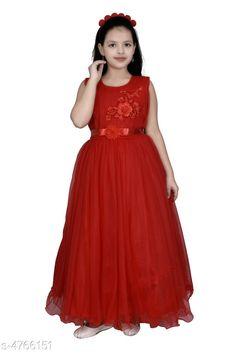 Checkout this latest Frocks & Dresses Product Name: *Modern Classy Girls Frocks & Dresses* Fabric: Net Sleeve Length: Sleeveless Pattern: Solid Multipack: Single Sizes: 4-5 Years (Bust Size: 24 in)  5-6 Years (Bust Size: 26 in)  6-7 Years (Bust Size: 28 in)  7-8 Years (Bust Size: 30 in)  Country of Origin: India Easy Returns Available In Case Of Any Issue   Catalog Rating: ★4.3 (1037)  Catalog Name: Modern Classy Girls Frocks & Dresses Vol 3 CatalogID_694012 C62-SC1141 Code: 755-4766151-8181