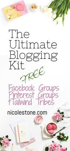 FREE ultimate blogging kit! Pinterest Group Boards, Facebook Groups, Tailwind Tribes, Tools, Tips and Courses. Everything you need to boost your blogging traffic and grow your business. #blog