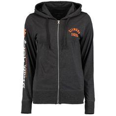 Clemson Tigers Women's Sunset Full-Zip Jersey Hoodie - Charcoal