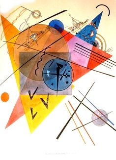 Musica - Kandinsky named works after musical terms, saw color when he listened to music, and believed color could visually express music's timber, pitch and volume.                                                                                                                                                     More