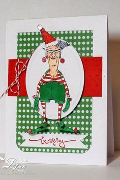 Art Impression Stamps Santa's Helper Eunice Christmas card.