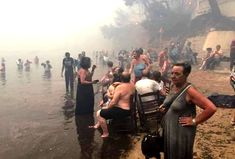 Greece wildfires a 'Biblical disaster': At least 79 killed near Athens as tourists forced to flee into sea Wild Fire, Climate Action, Seaside Resort, Meteorology, Carl Sagan, Science News, Environmental Science, Earth Science, Best Funny Pictures