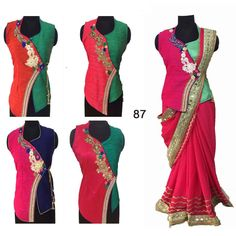6f071e5094ee48 King Sales New Latest Fancy Full Stitched Embroidery Designer Long Koti  Style Blouse With Hand Work
