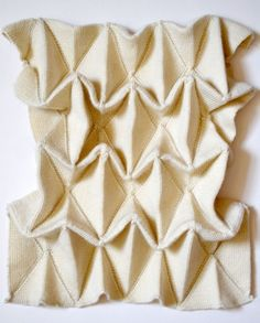 Origami Textiles - structured 3D fabric construction; dimensional surface creation // Hillary Woollard