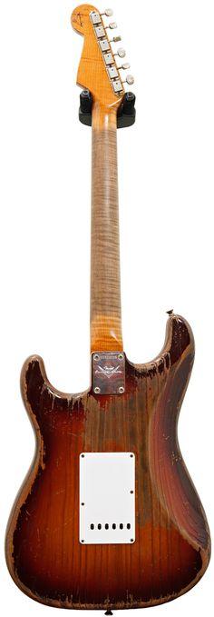 Fender Custom Shop 1961 Strat Heavy Relic Chocolate 3 Tone Sunburst Master Built by Dale Wilson #CZ526235
