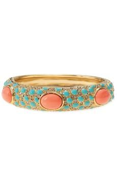 Turquoise and coral....love it!