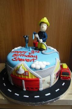 Fire Engine Cake Inspired By Fireman Sam Children S Birthday Cakes Pompiers And