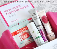 So I received this special New York Fashion Week Survival Kit from Birchbox during my adventures...