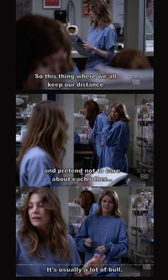 greys anatomy. I can think of a few people I do this with.