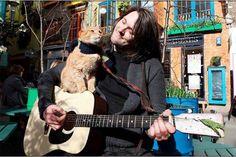 The inspiring James Bowen and Bob his cat
