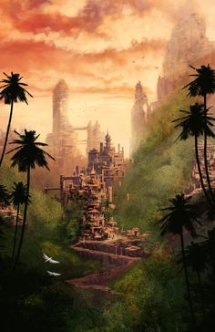"""Jungle Villages"" by DigitalCutti (Alexander Cutri)"
