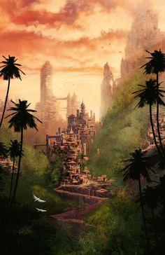 Jungle Villages by *DigitalCutti on deviantART