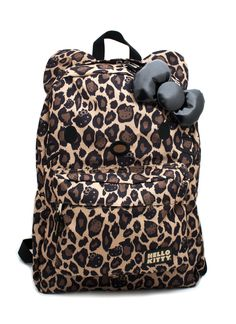 Perfect for a stylish lil gal.    hello kitty leopard backpack $28.95