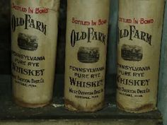 The whiskey was bottled in 1912 by the nearby West  Overton Distilling Co.  ....