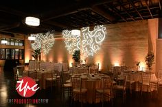 LED Up Lighting and Custom GOBO Breakout Patterns