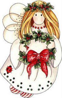 angeles de navidad para imprimir