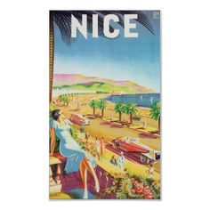 Poster de viagens agradável do vintage por vintagetreasurechest