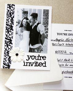 Super cute-- Homemade Wedding Invites!