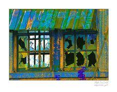 Fine Art wall print of urban building broken by picspicspics, $20.00