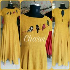 Churidar Designs, Kurta Designs Women, Kurti Neck Designs, Blouse Designs, Kurtha Designs, Kurti Embroidery Design, Embroidery On Kurtis, Kurti Patterns, Blouse Patterns