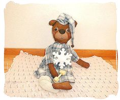 Sydney Christmas Bear and  Snowflake epattern by Skunkhollow