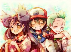 Iris Ash and Cilan - my favorite companions~