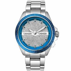 BREEZE City Light Blue Stainless Steel Bracelet Τιμή: 150€ http://www.oroloi.gr/product_info.php?products_id=30541