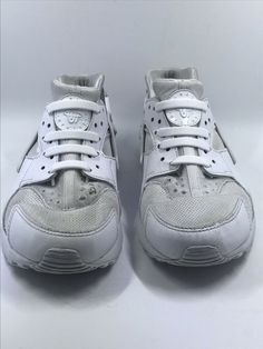 f66372c053 Youth Nike Air Huarache Run Ultra Shoes White Size 4.5Y Silicone Laces  #fashion #