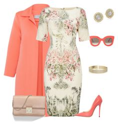 A fashion look from July 2016 featuring Adrianna Papell dresses, D.Exterior coats and Jimmy Choo pumps. Browse and shop related looks. Look Fashion, Spring Fashion, Womens Fashion, Fashion Trends, Modest Fashion, Fashion Dresses, Christian Dior, Jimmy Choo, Church Outfits