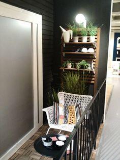PAllet - madera piso - Balcón chico, decoración grande | Laralá - Un sitio, mil ideas