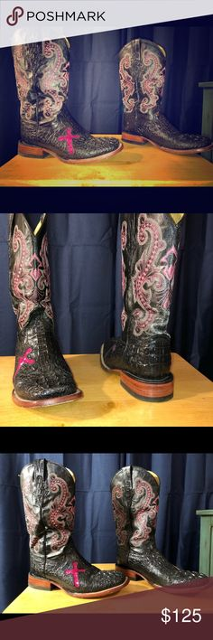 Cowgirl boots Black and pick cowgirl boots ferrini Shoes