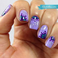 Chickettes.com freehand nail art using Presto art gels