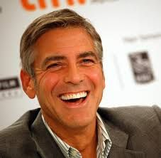 George Clooney, what a great smile.  I have heard a couple dental professionals talk about his flat smile line, but his teeth match his top lip.  That makes it perfect in my book.  But really who cares, he is a handsome man who's smile makes him look open and welcoming.  The same as all the rest of us.  Smile on.